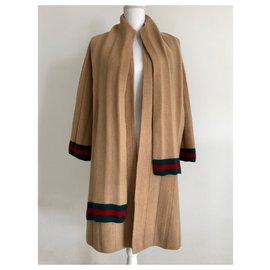 Gucci-Manteau en laine Gucci-Beige