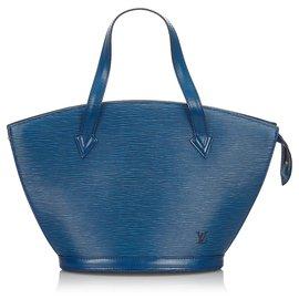 Louis Vuitton-Louis Vuitton Blue Epi Saint Jacques PM Sangle Court-Bleu