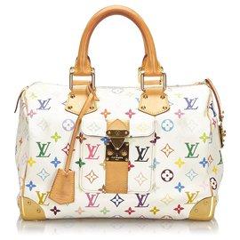 Louis Vuitton-Louis Vuitton Monogramme Blanc Multicolore Rapide 30-Blanc,Multicolore