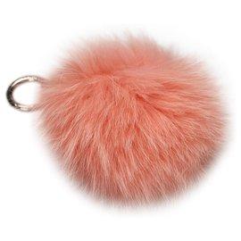 Fendi-Porte-clés Fendi Orange Fur Pom-Pom-Orange