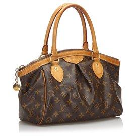 Louis Vuitton-Louis Vuitton Brown Monogram Tivoli PM-Marron