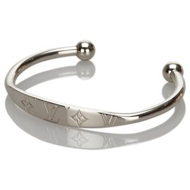 Louis Vuitton-Bracelet Jonc Monogram Argenté Louis Vuitton-Argenté