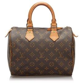 Louis Vuitton-Louis Vuitton Monogram Brown Speedy 25-Marron