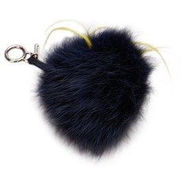Fendi-Porte-clés Fendi Black Monster Fur-Noir