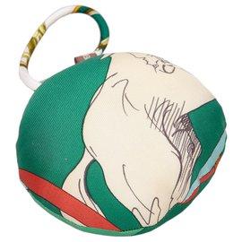 Hermès-Hermes Green Petit H Round Ornament-Multiple colors,Green