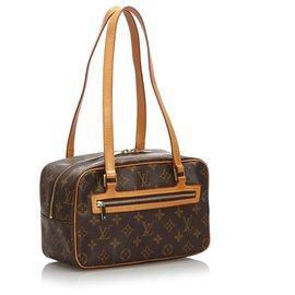 Louis Vuitton-Louis Vuitton Brown Monogram Cite MM-Marron