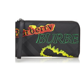 Burberry-Burberry Multi Leather Graffiti Wallet-Black,Multiple colors