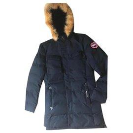 Canada Goose-Coats, Outerwear-Navy blue