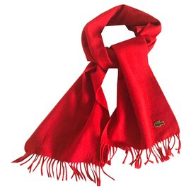 Lacoste-Men Scarves-Red