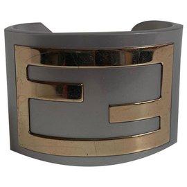 Fendi-Bracelets-Silvery