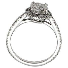 inconnue-Bague solitaire diamant 1,01 carat en or blanc.-Autre