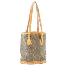 Louis Vuitton-Louis Vuitton Monogram Bucket PM-Marron