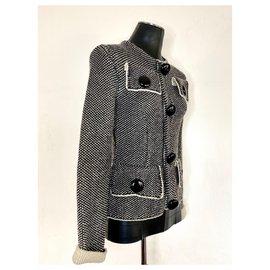 Louis Vuitton-Veste en laine Mélangée Louis Vuitton-Noir