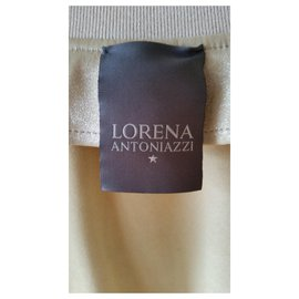 Lorena Antoniazzi-LORENA ANTONIAZZI LEATHER BOMBER JACKET-Cream
