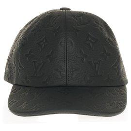 Louis Vuitton-Casquette Louis Vuitton Série limitée des défilés modèle 1.1 en cuir noir Taurillon souple, état neuf-Noir