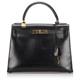 Hermès-Hermes Black Kelly Retourne 28-Black