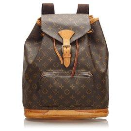 Louis Vuitton-Louis Vuitton Brown Monogram Montsouris GM-Brown