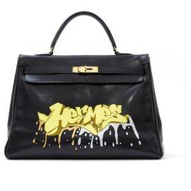 Hermès-Kelly 35 BLACK GRAFF KONGO-Black