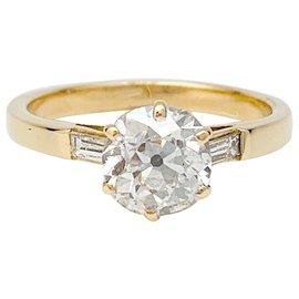 inconnue-Bague or jaune, diamant taille ancienne.-Autre