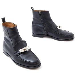 Hermès-KELLY BLACK FR38-Noir,Argenté