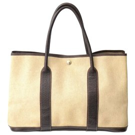 Hermès-Hermès Garden Party PM Tote Bag-Beige