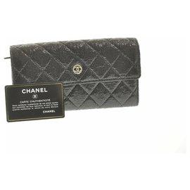 Chanel-Portefeuille en cuir Chanel-Noir