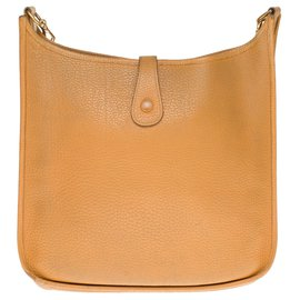 Hermès-Sac Hermès Evelyne grand modèle en clémence taurillon gold-Doré