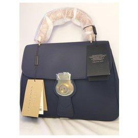 Burberry-Burberry The Medium DK88 Top Handle Bag-Dark blue