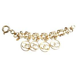 Chanel-Bracelet chanel médaillons-Doré
