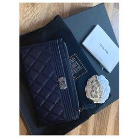 Chanel-Boy wallet-Purple