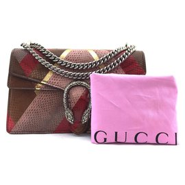 Gucci-Gucci Dionysus Multicolor Python Skin Leather-Multicolore