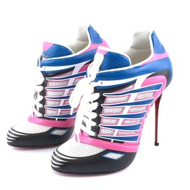 Christian Louboutin-Baskets Christian Louboutin Boltina Fluo 120 Pompes Fluo Mat / Jazz-Multicolore