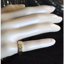 Cartier-cartier 18K 3p Taille de bague en diamants 53-Doré