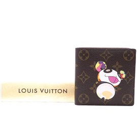 Louis Vuitton-Louis Vuitton Monogramm Panda Bifold Compact Geldbörse-Mehrfarben