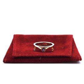 Cartier-cartier 18K 750 Taille de bague Love Gemstones 53-Doré