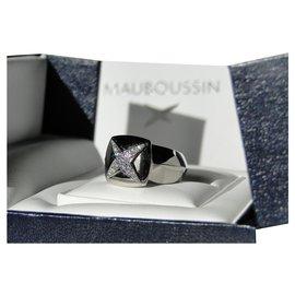 Mauboussin-Bague Mauboussin Etoiles Divines Or blanc 18 K et diamants-Argenté