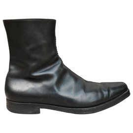Prada-Prada p men's boots 42,5-Black