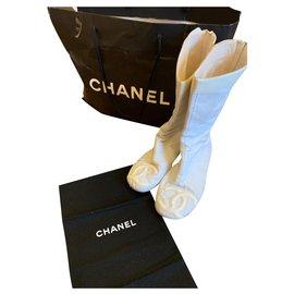 Chanel-boots-Blanc