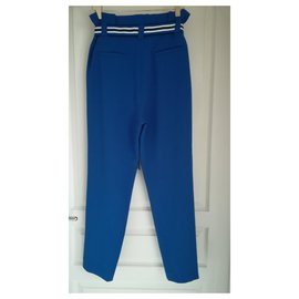 Claudie Pierlot-Pantalon carotte neuf-Bleu