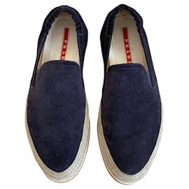 Prada-Sneakers-Navy blue