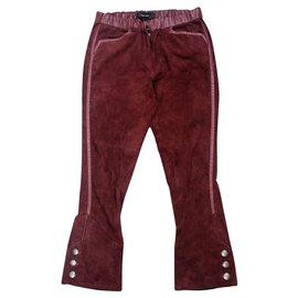 Isabel Marant-Un pantalon, leggings-Bordeaux