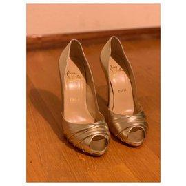 Christian Louboutin-Heels-Golden