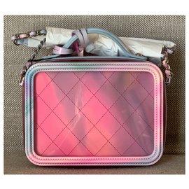 Chanel-Pink PVC Filigree Vanity Case-Pink