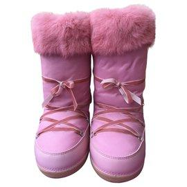 Autre Marque-Paesaggino Après-Ski-Stiefel-Pink