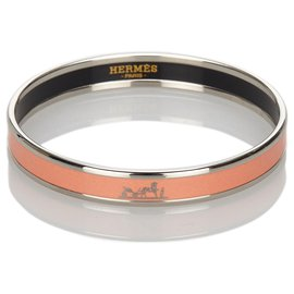 Hermès-Bracelet jonc en émail rose Hermès-Rose