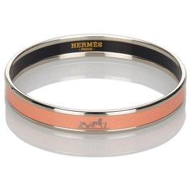 Hermès-Hermes Pink Caleche Enamel Bangle-Pink