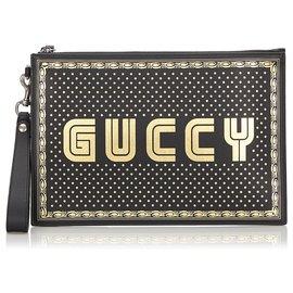 Gucci-Pochette noire Guccy Moon and Stars Gucci-Noir,Doré