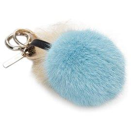 Fendi-Porte-clés Fendi Blue Monster Charm-Bleu,Multicolore