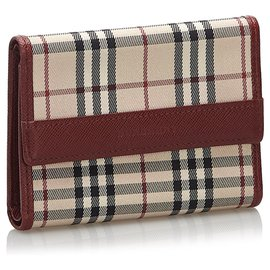 Burberry-Burberry Brown House Check Canvas Wallet-Brown,Multiple colors