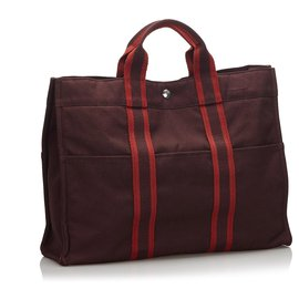 Hermès-Hermes Red Fourre Tout MM-Red,Other